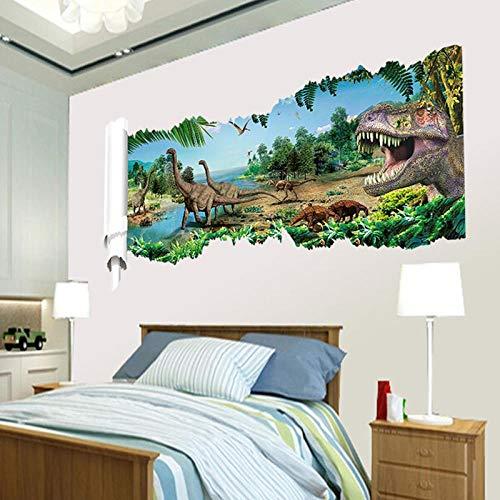 Wandaufkleber DIY Wohnkultur Jurassic Park Dinosaurier Wandaufkleber für Kinderzimmer Dekoration Cartoon Aufkleber Poster für Wände