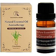 TKH 100% puro olio essenziale naturale Estratti di citronella 10 ml olio Premium terapeutico