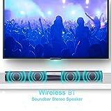 NimbleMinLki Stereo-Lautsprecher, kabellos, Bluetooth, Heimkino, TV, Laptop, Surround, Größe S