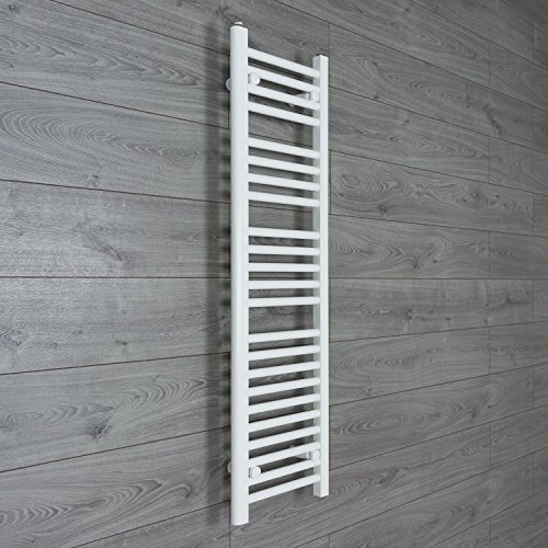 300 mm de ancho x 1200 mm plano de alta toallero recto de baño en color blanco para radiador para calefacción Central