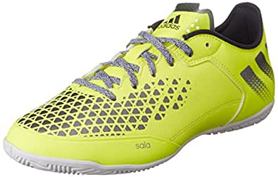 adidas Ace 16.3 Court, Chaussures de Football Entrainement Homme, Jaune (Solar Yellow/Utility Blue/Night Metallic), 40 2/3 EU
