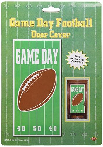 Beistle 500071er Pack Spiel Tag Fußball Tür Bezug für Partys, 30Geschenkpapierrolle 150cm