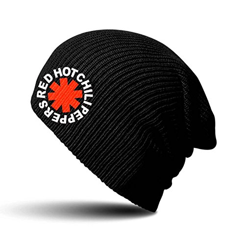 Red Hot Chili Peppers Mütze Beanie Asterisk Nue offiziell Schwarz slouch
