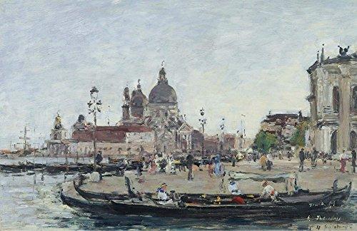 1895 Drucken (Das Museum Outlet–Venedig, die Salute, 1895, gespannte Leinwand Galerie verpackt. 29,7x 41,9cm)