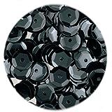 Efco Fil rond incurvé, Sequins, noir opaque, 6mm, 40g, 4000-piece