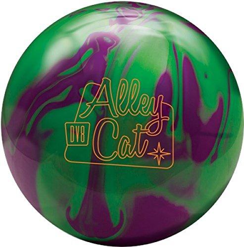 DV8 Alley Cat Bowling-Ball Reaktiv Oberfläche für das Bogen Spiel in verschiedenen Farben und Gewichten 10lbs-16lbs (Lila/Grün, 11 lbs)