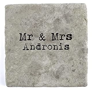 Mr & Mrs Andronis - Single Marble Tile Drink Coaster