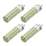 MENGS® Pack de 4 Lámpara G12 LED 10W AC 85-265V blanco frío 6000K 108X2835 SMD con revestimiento de cerámica y aluminio