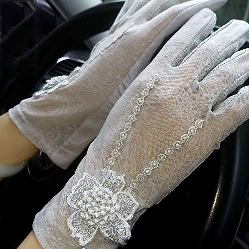 Sprrc Exquisite Spitze Handschuhe Damen Elegante licht handschuh Outdoor Camping Sommer Sonnencreme atmungsaktiv Fahren Anti-Skid Etikette göttin Braut Brautjungfer Abdeckung Narbe dünne kleidun (Sonne Göttin Kostüme)