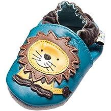 Jinwood - León Azul - Mini Zapatos - León Zapatos de Cuero Bebe By amsomo - Azul, 17-19