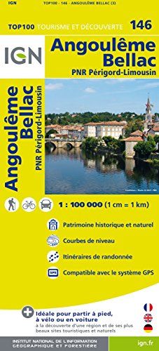 Top100146 Angouleme/Bellac 1/100.000