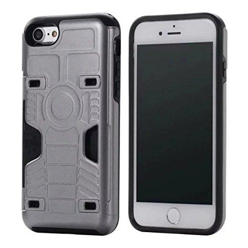 iPhone 6 Plus Coque,iPhone 6S Plus Coque,Lantier Anti Skid Creative Texture design antichoc double couche Housse de protection avec (fente pour carte) pour iPhone 6 Plus/6S Plus Or rose Grey