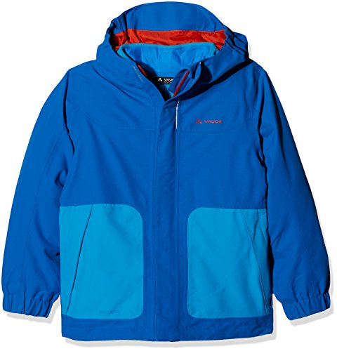 VAUDE Campfire 3-in-1 Jacket IV Kinder Doppeljacke, Ocean, 110/116, 05381 - Ocean Fleece-stoff