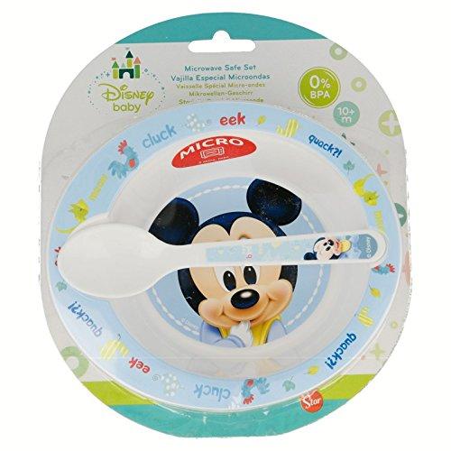 Mickey Mouse- Set microondas 2 Piezas (Cuenco PP y Cuchara) (STOR 39878)