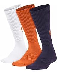 Nike 3P Yth Boy'S Graphic Ctn Cush Calcetines, Niños, Rojo (Multicolor), M