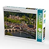 Blick vom Philosophenweg auf Heidelberg 2000 Teile Puzzle Quer