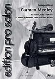 Carmen-Medley pour ensemble de salon (Partition de piano et voix)