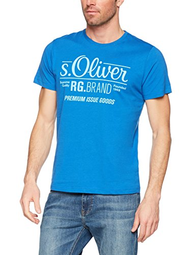 s.Oliver Herren T-Shirt Onllive Love Trendy Stripe SS Oneck Noos, Blau (Royal Blue 5545), Medium