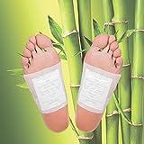 Mr. Goods® cerotto per piedi di bambù, per la disintossicazione e il dimagrimento, cerotti essenziali per la disintossicazione, 10 cuscinetti per i piedi di bambù per la salute e il benessere