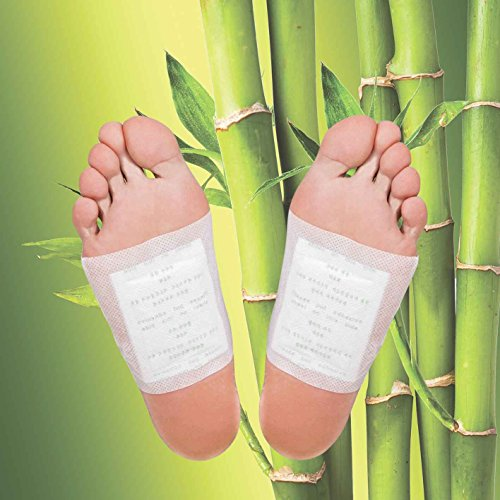 MR Goods® Bambus Detox Fußpflaster zur Entgiftung und zum Abnehmen - Vitalpflaster zur Entschlackung - 10 Foot Pads mit Bambuspflaster für Ihre Gesundheit und Wellness