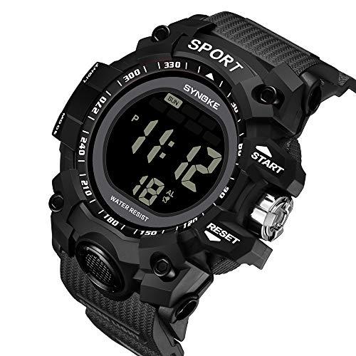 Zolimx Jungen Digitaluhren Kinder Elektronische Sport Wasserdicht Digital Uhren LED Digital Double Armband