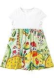 Oilily Jersey Kleid Thevillage weiß für Mädchen YS18GDR285