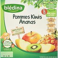 Blédina 100% Fruits Pommes Kiwi Ananas en Coupelle dès 8 Mois 400 g