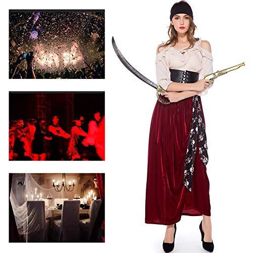 JH&MM Die Schulterfreie Weibliche Piraten-Dämonenklage Der Halloween-Kostümfrauen Spielt Maskeradeleistung,XL