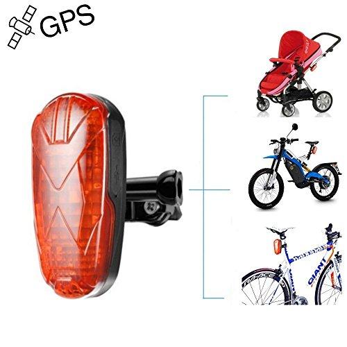 TKSTAR Fahrrad Kinderwagen Motor GPS Tracker LED Rücklicht, Wasserdicht Echtzeit GPS LED Rücklicht versteckt GPS Tracking Gerät mit 25 Tage lange Akkulaufzeit & Kostenlose APP TK906 (Alarmanlage Mit Gps-tracking)