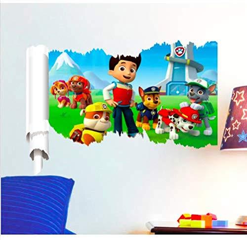 ZooYoo Vinilo O Pegatina Infantil Dibujos Animados Torre Patrulla