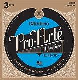 D'Addario EJ46-3D - Juego de cuerdas para guitarra clásica de nylon con entorchado...