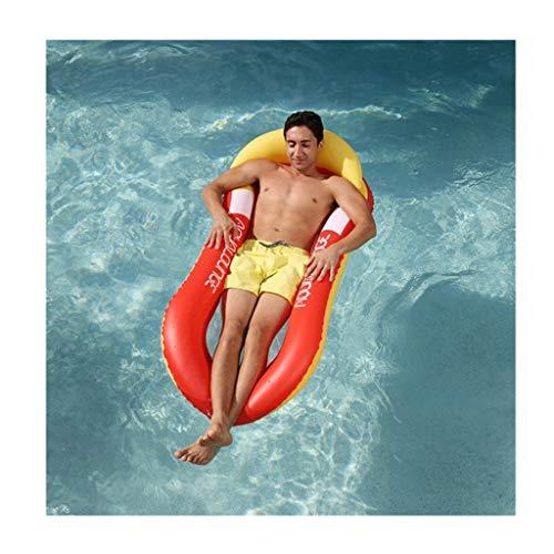 JINBRAND Wasser Hängematte, Faltbar Schwimmender Stuhl Tragbar Licht Schwimmmatte (Color : Red) - Faltbare Hängematte Tragbare