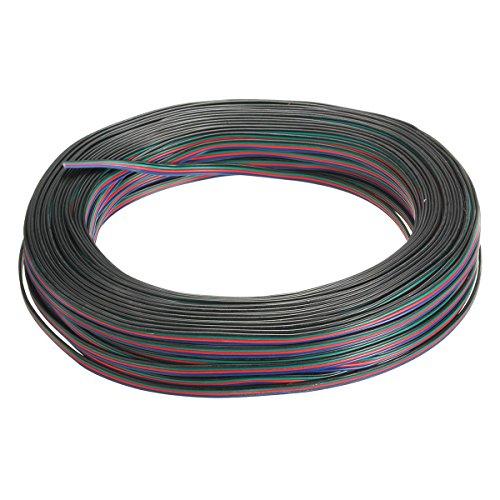 Anschluss Kabel - SODIAL(R)4-Pin Draht Verbindungskabel Kabel fuer LED RGB Streifen 3528 5050 Anschluss Bunt 50m
