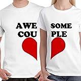 #9: DreamBag Couple T Shirts - Awesome Couple Unisex Couple T-Shirts