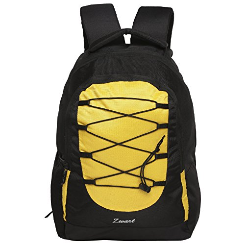 Zwart 25 Ltrs Black And Yellow Laptop Backpack