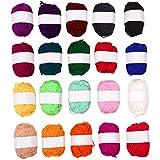 SOLEDI Premium Acrylgarn Handstrickgarn Häkelgarn Acryl zum Stricken Häkeln 20 Farbe 25g pro Farbe
