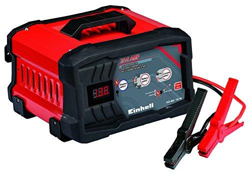 einhell batterie ladegeraet Einhell Batterie Ladegerät CC-BC 15 M (für Batterien von 3 bis 300 Ah, Ladespannung 6 V / 12 V, schutzisolierte Batterieklemmen, LED-Batteriespannungs- und Ladefortschrittsanzeige)