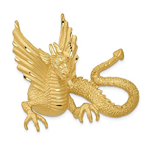 Gelbgold 14 K Dragon Slide