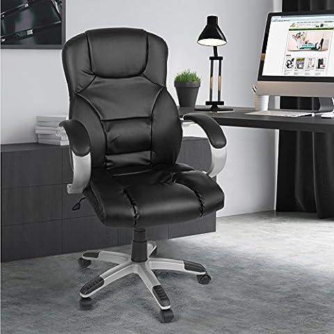 Miadomodo Sedia ufficio girevole poltrona scrivania ergonomica altezza regolabile 107