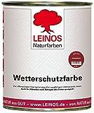 Leinos 850 Wetterschutzfarbe auf Ölbasis 0,75 l Schweden-Rot