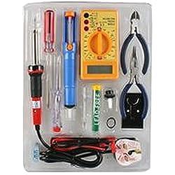 SOLDERING AND REPAIR KIT Tools Soldering Irons - SOLDERING AND REPAIR KIT, Kit Contents: Soldering Iron, Desoldering Pump, Nose & Diagonal Plier, Screwdriver, Holder, Multimeter, Solder