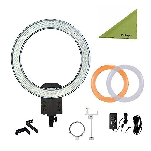 Best Price NanGuang CN-R640 19″ Outer Photography Video Studio 640 LED CRI 95 5600K Dimmable Ring Light for Makeup & Beauty Photography/Video Special