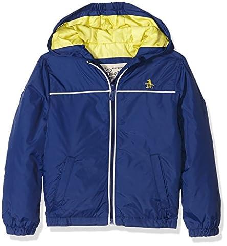 Original Penguin Boy's Pack-A-Mac Raincoat, Blue (Blue Depths), 5-6 Years