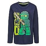 LEGO Wear Jungen Lego Ninjago M-72644-Langarmshirt, Blau (Dark Navy 590), 128