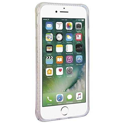 WE LOVE CASE iPhone 7 Plus 5,5 Hülle Weich Silikon iPhone 7 Plus 5,5 Schutzhülle Handyhülle Im Transparent Durchsichtig Glitzern Funkeln Diamant Sand Muster Handytasche Cover Case Etui Soft TPU Handy  Kirsche