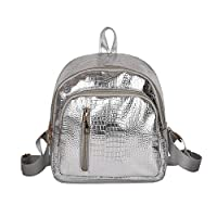 Sukisuki Mini Faux Leather Crocodile Pattern Backpack Women Teens Rucksack Shoulder Bag