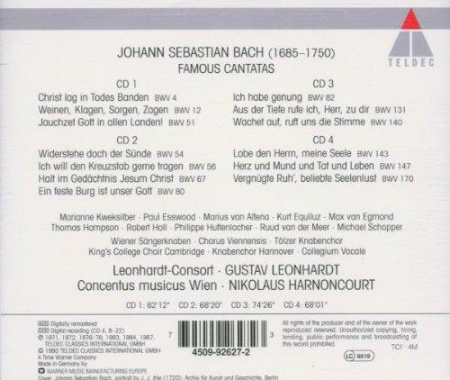 Bach - Cantates célèbres (BWV 4, 12, 51, 54, 56, 67, 80, 82, 131, 140, 143, 147, 170) (4CD)