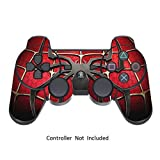 PlayStation 3 PS3 Controller Sticker - Aufkleber Schutzfolie Skin für Sony Playstation DualShock 3 Wireless Controller Widow Maker Black