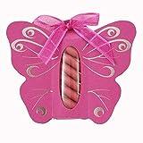 Ballotins à dragées - boites à dragées forme Papillon avec étui x6 couleurs au choix mariage baptême communion anniversaire- Les Gourmandises de Heidi (Fuchsia/Gris)