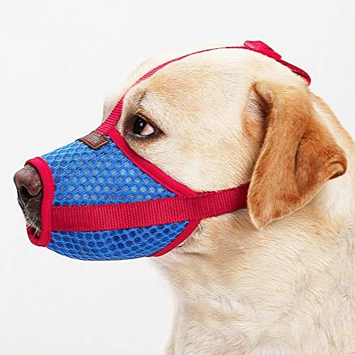 Haar-maske Essen (Trihedral-X Atmungsaktive Hunde-Mund-Maske Anti-Bellen Anti-Bissing und Anti-Störung Fressen Netztuch Haustier Mundschutz Teddy Golden Haar Maske)